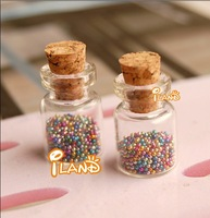 4pcs of Glass Jar With Candy Chocolate Doll House Miniature Food Supply