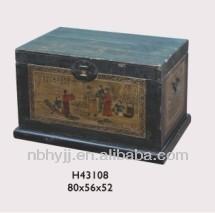 antique wooden chest, storage cabinet, antique trunk