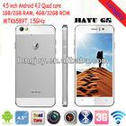 JIAYU G5 MTK6589T Quad Core phone 4.5 Inch Retina Gorilla Screen Android 4.2 2GB RAM 32GB ROM 13.0MP Camera 3G GPS Smart phone