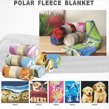 2014 New fashion soft warm polyester FDY polar fleece blanket
