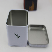 Square white tea tin boxes /can