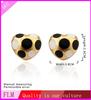 2014 sexy heart 18k yellow gold Leopard grain stud alloy heart earrings FPE687
