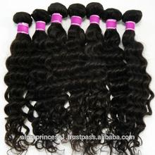virgin malaysian/indian/brazilian/peruvian deep wave hair wefts