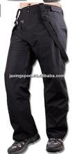 Baixo preço plus size todas as costuras gravado à prova d ' água 10000 Ski Men calças pretas