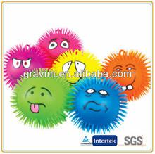 Cute expression squishy puffer ball