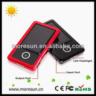1200mAH solar powered lamp and charger with high efficiency solar panel