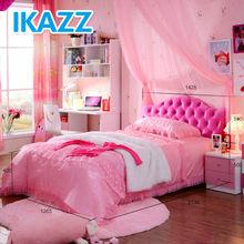 Moderno de color rosa barato camas para las muchachas