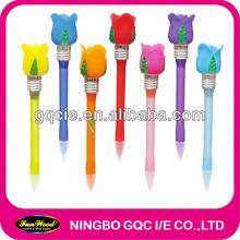 Plastic led light pen, with flower on top, Novelty