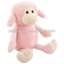 25cm high quality stuffed animals cute and cheap soft plush pink lamb children's toy