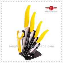 6pcs white sharp ceramic kitchen knife sets