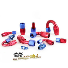 Alloy Aluminum Oil / Fuel Adaptor Swivel Reusable AN Fitting Hose End
