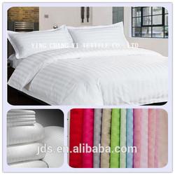 10%cotton stripe fabric for hotel bedding