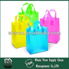Biodegradable Shopping Clothing Gift Double Handle Bags Polythene Loop Handle Plastic Bags