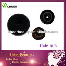 Factory direct sale braided hair bun human hair bun
