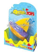 bath toys pull line mini plastic toy ships
