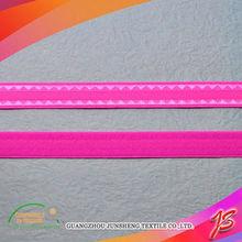 Shiny bra strap elastic