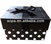 white polka dots gift Paper Box