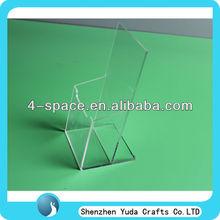 transparent Angled Tri-Fold Brochure Holder,acrylic Counter Brochure Holder