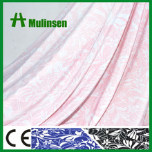 High Quality Four Way Stretch Flower Printed White And Pink Fabric