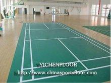Yichen pvc sports flooring for badminton,basketball,gym,dance floor