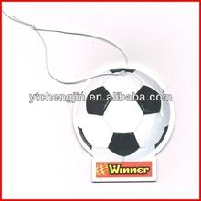 football shape car air freshener/air freshener for car ocean blue/car fragrance paper air freshener