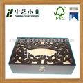 super qualidade fantasia de luxo em madeira caixa de presente por atacado