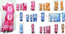 vintage retro thai style HIPPIE BOHO tie dye handmade kimono kaftan maxi dress