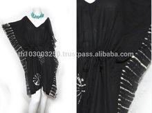 VTG retro HIPPIE BOHO handmade tie dye color tunic tent kaftan cover up dress 2 tones