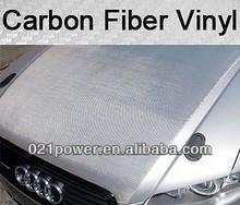 60 inch X 4 FT CARBON FIBER SILVER VINYL WRAP GRADE 3D PROFESSIONAL CF HQ
