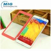 New product windows view leather case for galaxy note 3