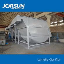 Actiflo lamella settling tank as liquid and solid separator