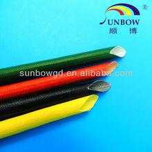 Silicone coated fiberglass braided sleeve