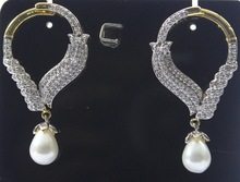 One Piece Pearl & High Quality CZ Earrings