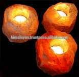 Rock Salt Tea Light Holders/Himalayan Salt Candle Holders/ Natural Salt