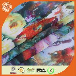 2014 new design digital effect chiffon small flower print fabric