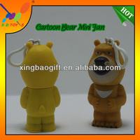 Newest 2014 hot sale mini bear fan toys,children bear mini toy pocket cool fan,The cartoon bear wholesale mini handheld fan.