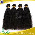 5a venta al por mayor grado sin procesar virgen corto rizado brasileño extensiones de cabello