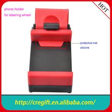 2014 hot sale popular phone mount car steering wheel phone holder,universal car holder for smartphone mount for steering wheel