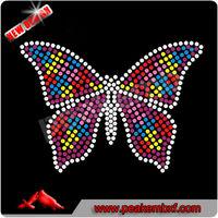 Beautiful Butterfly Hotfix Rhinestone Motif Autism Neon Studs for Clothing