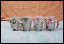 10OZ handpainted coffee mug, stoneware handpainted mug
