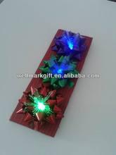 "HOT SALE ! 3.75"" LED Optical Fiber Gift Lighting Up Star Bow, LED Gift Packaging Bow, LED Ribbon Bow"