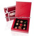 grado superior de la caja de regalos de chocolate con nombres personalizados para su solicitud