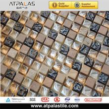 Factory supply many styles interior decoration backsplash glass mix stone mosaic