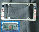 Zinc alloy license plate frames chrome