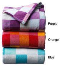 NEW Luxury Printed Check Microplush Blanket Bedroom Comfort Beautiful Bed
