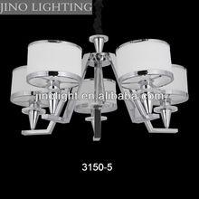 White glass 5 arms new design pendant lamp
