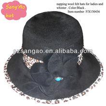 Making fashion wool fedora hat