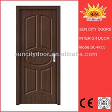 Simple de madera puertas de pvc en el diseño de china sc-p055