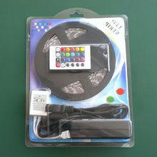 Christmas gift!! DC12V Flexible led strip waterproof ip65 5m rgb led strip set 5050