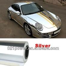 Silver Metallic Car Sticker Wrap Sheet Cover Mirror Normal Chrome Film Decal Protect decorative car cover